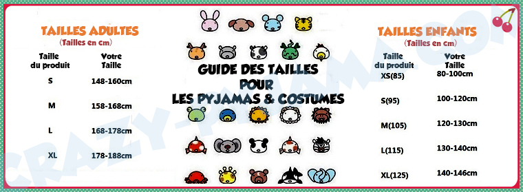 Guide pour choisir la taille de son pyjama